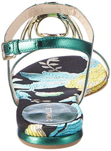 Dei Mille Damen Dominga Offene Sandalen Grün (Smeraldo / Silver)