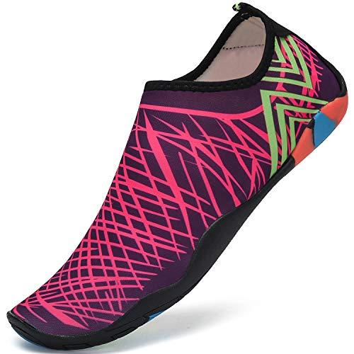 Escarpines de Buceo Surf Mujer Zapatos de Agua Hombre Aqua Shoes para Swim Beach Piscina Yoga,Rosa,44...