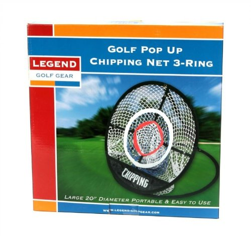 Legend Golf Gear Golf Pop Up Chipping Net 3-Ring (Pop-up Golf Net)