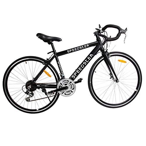 Ridgeyard 26' 54cm Aluminium vélo de Route Course Cycliste Road Bike 21 Vitesse vélo 700C (Noir)