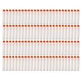 Foam Darts Pfeile, 100 Stück 7.2cm Patronen Nachfüllpack Darts für Nerf N-Strike Elite Series Blasters Spielzeugpistole (Weiß, 100)