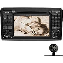 YINUO 7 Zoll 2 Din Touchscreen In Dash Autoradio Moniceiver DVD Player GPS Navigation 1080P OEM Stecker Canbus für Mercedes-Benz ML-W164/W300/ML350/ML450/ML500(2005-2012) GL-X164/G320/GL350/GL450/GL500(2005-2012) mit Rückfahrkamera