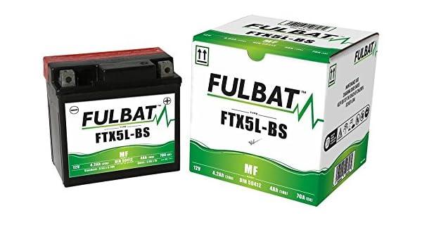 Batterie Varta YTX5L-BS MF wartungsfrei f/ür KYMCO Maxxer 50 50 ccm inkl. 7,50 EUR Batteriepfand