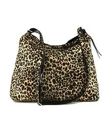 LONI Feral - Bolso bandolera de piel sintética con estampado de leopardo