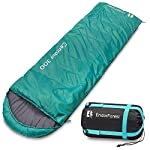 Endor Forest Sleeping Bag for Adults and Kids - Made With Ripstop Polyester, Single Envelope 3 Season Sleeping Bag for Camping - Lightweight, Compact and Water Resistant for a Comfortable Warm Sleep 10