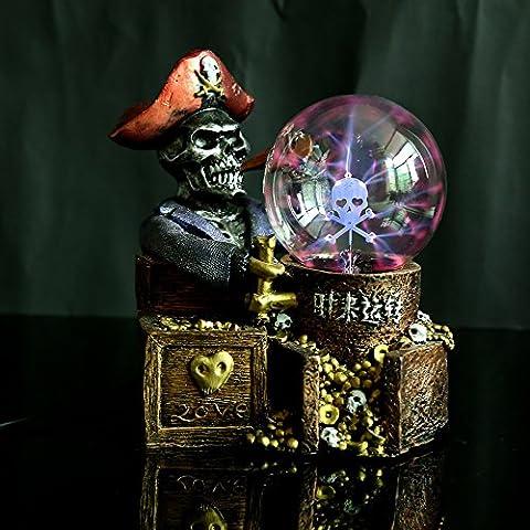 Sfera di cristallo di resina mestieri creativi della moda di magia Magic Ball fortuna pirata nave magica palla luminosa - Sfera Nave