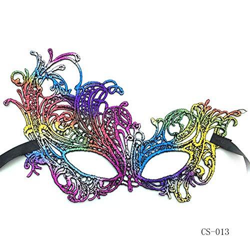 Maskerade Maskl Schwarzer Ball Spitze Maske Schöne Bunte Maskerade Tanz Abend Party Augenmaske Katze Halloween Kostüm