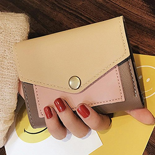 Portafoglio Donna, Tpulling Borsa della borsa del supporto della carta del raccoglitore della borsa della frizione delle donne (Blue) Khaki
