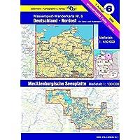 Wassersport-Wanderkarte / Kanu-und Rudersportgewässer: Jübermann Wassersport-Wanderkarten, Bl.6, Deutschland Nordost…