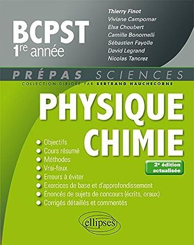 Livre Physique Chimie - Physique-chimie BCPST-1 - 2e édition