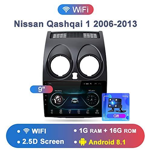 OSB STYLE 2G + 32G Android 8.1 4G Radio de Coche Reproductor de Video Multimedia de Navegación GPS para Nissan Qashqai 1 2006-2013 J10 2 DIN Sedan DVD,A
