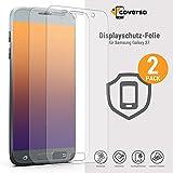 coverso Schutzfolie für Galaxy S7 [2 Stück] Transparente S7 Displayschutz-Folie (TPU Displayfolie, Kein Panzerglas)