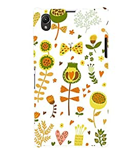 Flowers Nature 3D Hard Polycarbonate Designer Back Case Cover for Sony Xperia Z1 :: Sony Xperia Z1 L39h