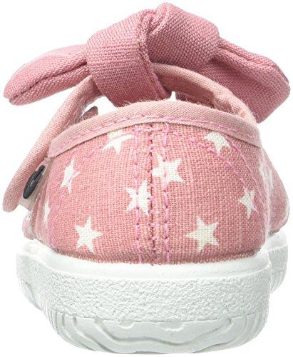 victoria Unisex Baby Mercedes Estrellas Pañuelo Hausschuhe, Rose, 19-20-21-23-24-25-26-27 Rose (Rosa)