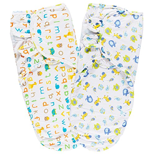 Lictin Pucksack Pucktuch Baby Strampelsack aus 100{51e35b85897d8203c9fee6069353ffb6e21e91dffc8b20ce858b696a6000de4a} Baumwolle 2PCS Pucksack Baby für Neugeborene von ca. 0-6 Monaten ideal für warme Sommermonate