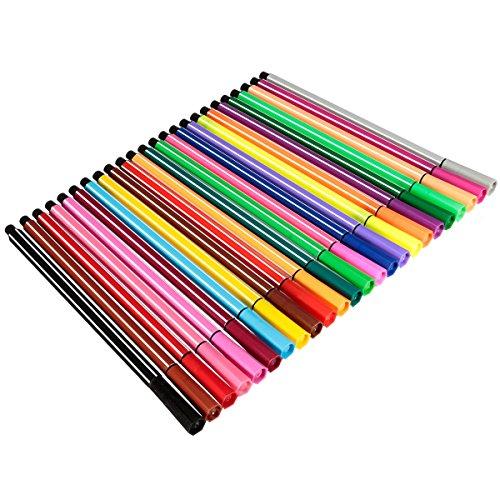 king-do-way-24-farben-abwaschbare-aquarell-stifte-markierstift-zeichnen-schreiber-textilstifte-marke