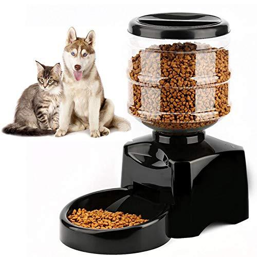 Ardorlove 5.5L dispensador automático de pienso para Perro y Gato, Soporte Timing alimentación y grabación de Mensajes vocaux