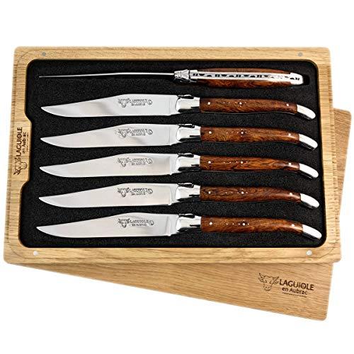 Laguiole en Aubrac 6 Couteau à Steak forgé de qualité supérieure