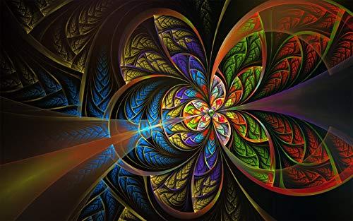Rompecabezas 1000 Piezas Adultos De Madera Niño Puzzle-Mandala De Vórtice-Juego Casual De Arte Diy Juguetes Regalo Interesantes Amigo Familiar Adecuado