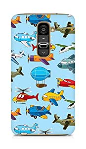 Amez designer printed 3d premium high quality back case cover for LG G2 (Helicopter airship plane texture)