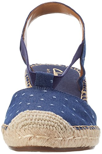 Clarks Damen Petrina kalie Slingback Blau (navy Fabric)