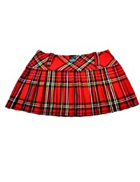 Tartan Mini Skirt 12in length (30.5cm) by Crazy Chick