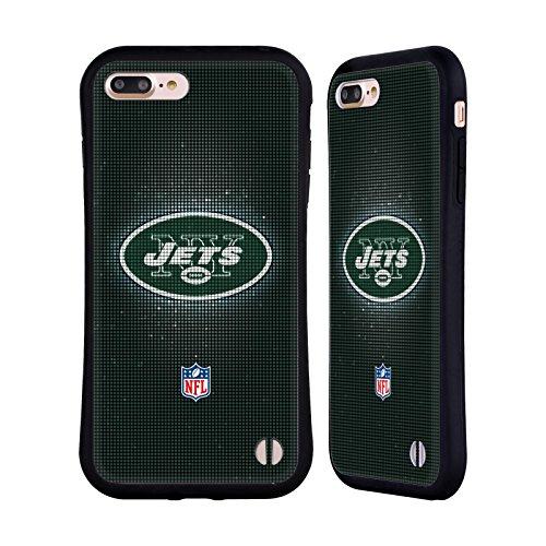 Ufficiale NFL LED 2017/18 New York Jets Logo Case Ibrida per Apple iPhone 6 Plus / 6s Plus LED