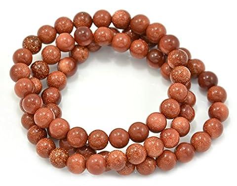tikiville Goldstone perles Bracelet Stretch, Lot de 3