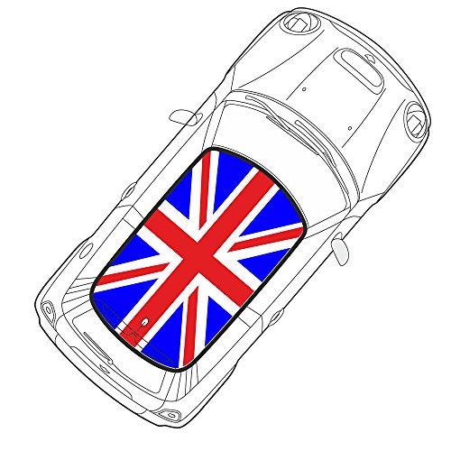 Preisvergleich Produktbild Aufkleber Auto Stück Mini Cooper Flagge Englisch Vintage 100x 180cm