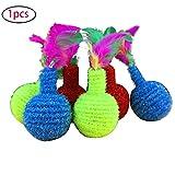 Hilai Haustiere Zahnbürste Granate Elastizität Spielzeug für Hund Katze Make Haustiere glücklich zufällige Farbe 1PC