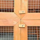 Anself Hühnerstall Hühnerhaus mit Eierbox und Freilauf - 6