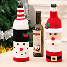 Navidad Botella de Vino Bolsas Inicio Decoración Mesa Decoración Navidad Regalo Bolsa Patrón Santa Claus Muñeco