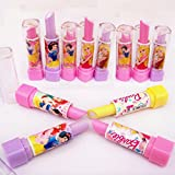 OSRA Kids Lipstick Style Rubber Eraser For Girls Birthday Party Gift (Pack Of 12)