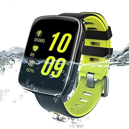 Montre Connectée pour iPhone et Android,Willful SW018 Bluetooth Smartwatch étanche IP68 Montre Fitness Montre Sport (Cardiofréquencemètre, Podomètre, Sommeil) avec Écran Tactile, Réveil, Chronomètre, Appel SMS Afficher, Notification...