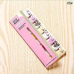Notas y pegatinas bonitas de papelería japonesa y material de papelería coreano, marcapáginas de animales 12.5×5cm 05#