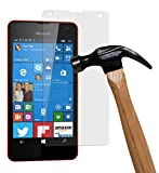 yayago Displayschutzglas 0,26 mm Displayschutzfolie für Microsoft Lumia 550 Glasfolie Hartglas 9H (bewusst Kleiner als Das Display, da Dieses gewölbt ist)