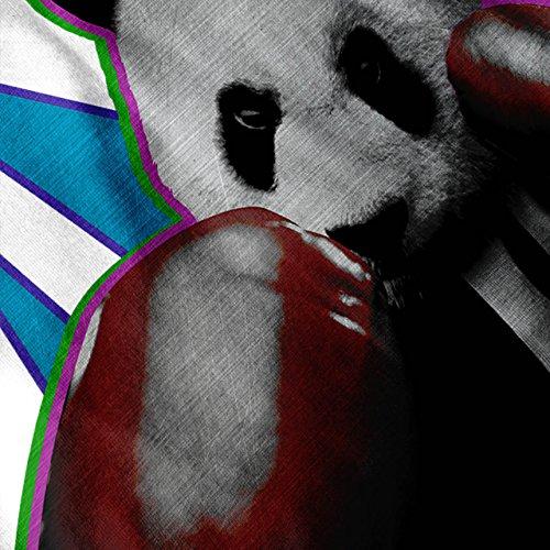 Panda Box Tier Zufällig Spaß Damen S-2XL Muskelshirt | Wellcoda Weiß