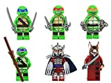 6 mini figurines de Tortues Ninja adolescentes et mutantes - Encastrables sur les skates