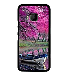 Fuson Premium 2D Back Case Cover Boat With Multi Background Degined For HTC One M9::HTC M9::HTC One Hima