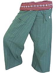 by soljo - Fisherman Pantalones Envuelva deporte Yoga Fisherpant ravon Tailandia Asia 16 colores (verde)