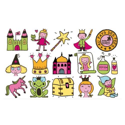 Aladine 3315 stampo kids lote de sellos de madera y tamp n para decorar - Casa de olivia lego friends el corte ingles ...