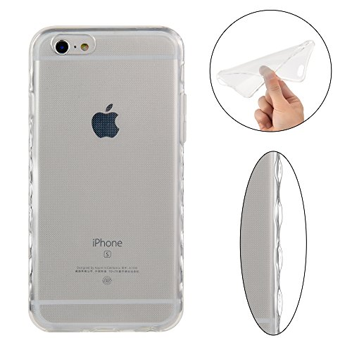 Coque iPhone 6S Plus , iPhone 6 Plus Etui TPU , CaseLover La Couleur Pure Motif Mode Etui Coque TPU Slim pour Apple iPhone 6 Plus / 6S Plus (5.5 pouces) Mode Flexible Souple Soft Case Couverture Houss Transparent