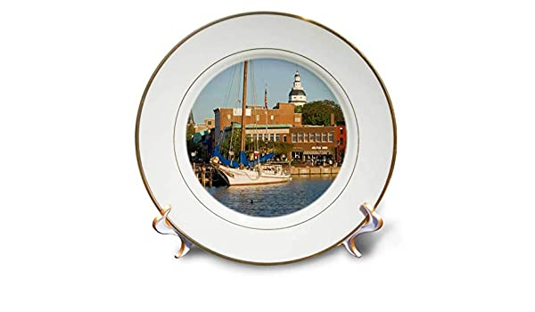 Buy 3drose Cp 90800 1 Annapolis City Docks Severn River Maryland Us21 Jme0005 John And Lisa Merrill Porcelain Plate 8 Inch Online At Low Prices In India Amazon In