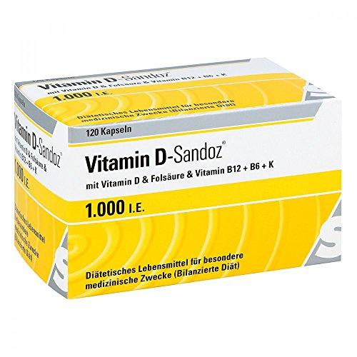 Sandoz Vitamin D 1000 I.E. Kapseln, 120 St. (D Vitamin)