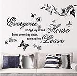 Meaosyy Apportez Des Joies À Cette Maison L Stickers Muraux Fleur Citations 8448 Papillon Décor À La Maison Murale Wall Sticker Mural Decal