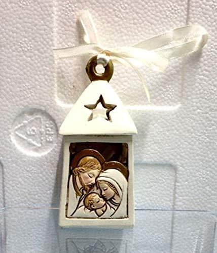 Lanterna in resina apribile portaconfetti icona sacra famiglia bombonier