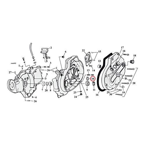 Sprocket Shaft Bearing (MCS Sprocket Shaft Bearing Spacer.108 Inch - 77-03 XL.)