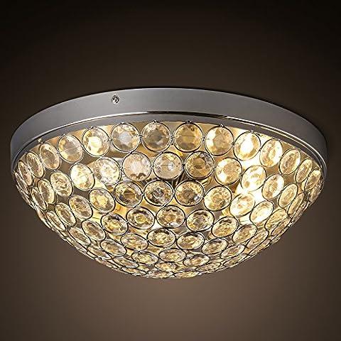 Zqww Ceiling lamp Il moderno ed elegante personalità acrilico cristallo luce da soffitto creative soggiorno aderente alla camera da letto illuminazione ,15-X circolare7004-3