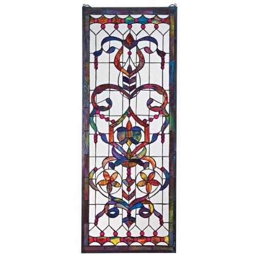 Design Toscano TF5005 Stained Glass Panel - Delaney Manor Buntglas-Fenster Behang - Fensterbehandlungen (Glasmalerei Antike)
