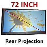 NIERBO 72 '16: 9 Mini écran de projection arrière portable HD Projecteur de projection 3D pour Home Cinéma